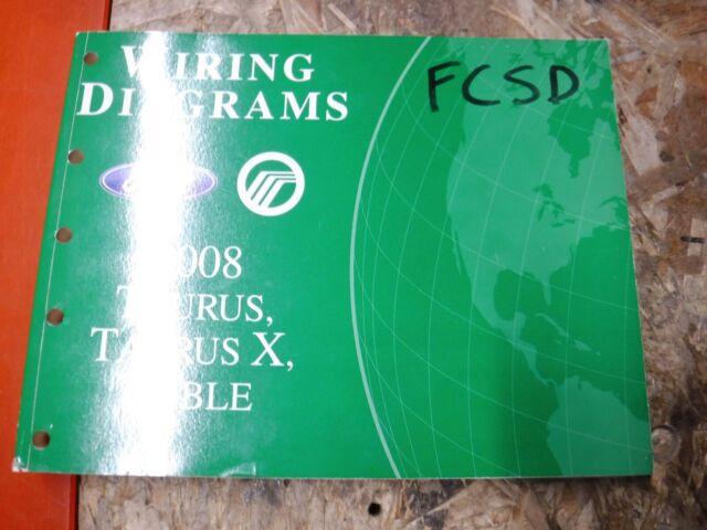 2008 Ford Taurus X Mercury Sable Factory Wiring Diagrams Manual Service