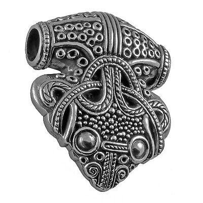 Gut Ausgebildete Replik 925 Silber Edler Thorhammer Sigtuna Rabe Raben-amulett Rabenthorhammer