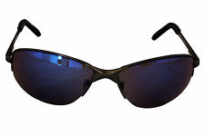 Foster Grant FG6 Mens Wrap Style Sunglasses Gun Metal Frame Blue Lenses CAT 2