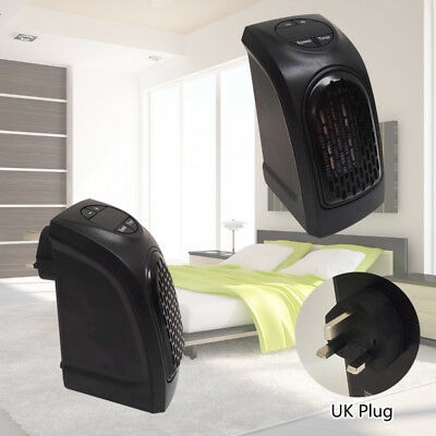 Mini Furnace Portable Plug-in Electric Handy Wall-outlet Space Heater UK Plug