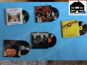 QUEEN-9-Miniature-music-Vinyl-record-Scale-1-12
