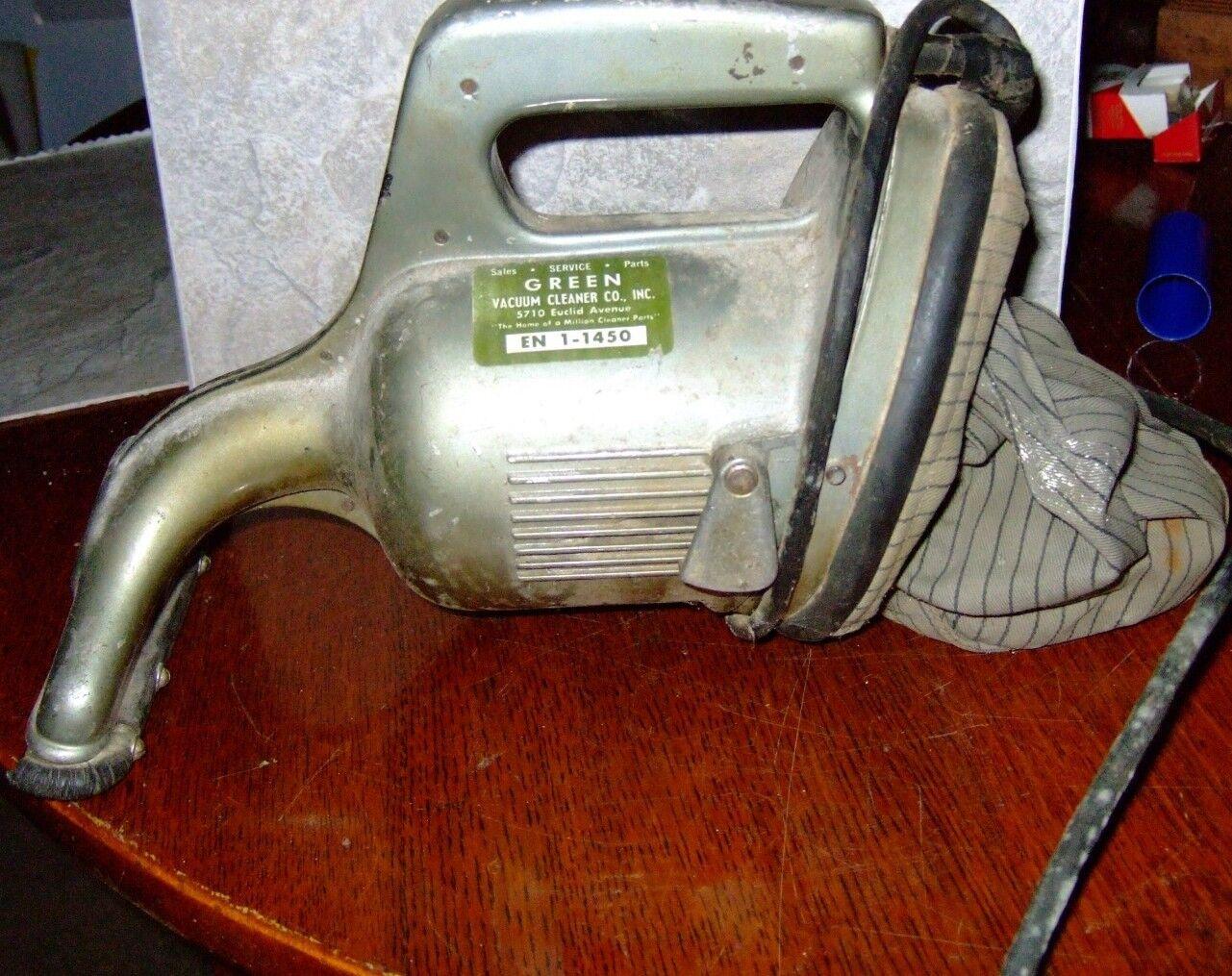 Vintage Hand Held Vacuum By Green Vacuum Cleaner CO.