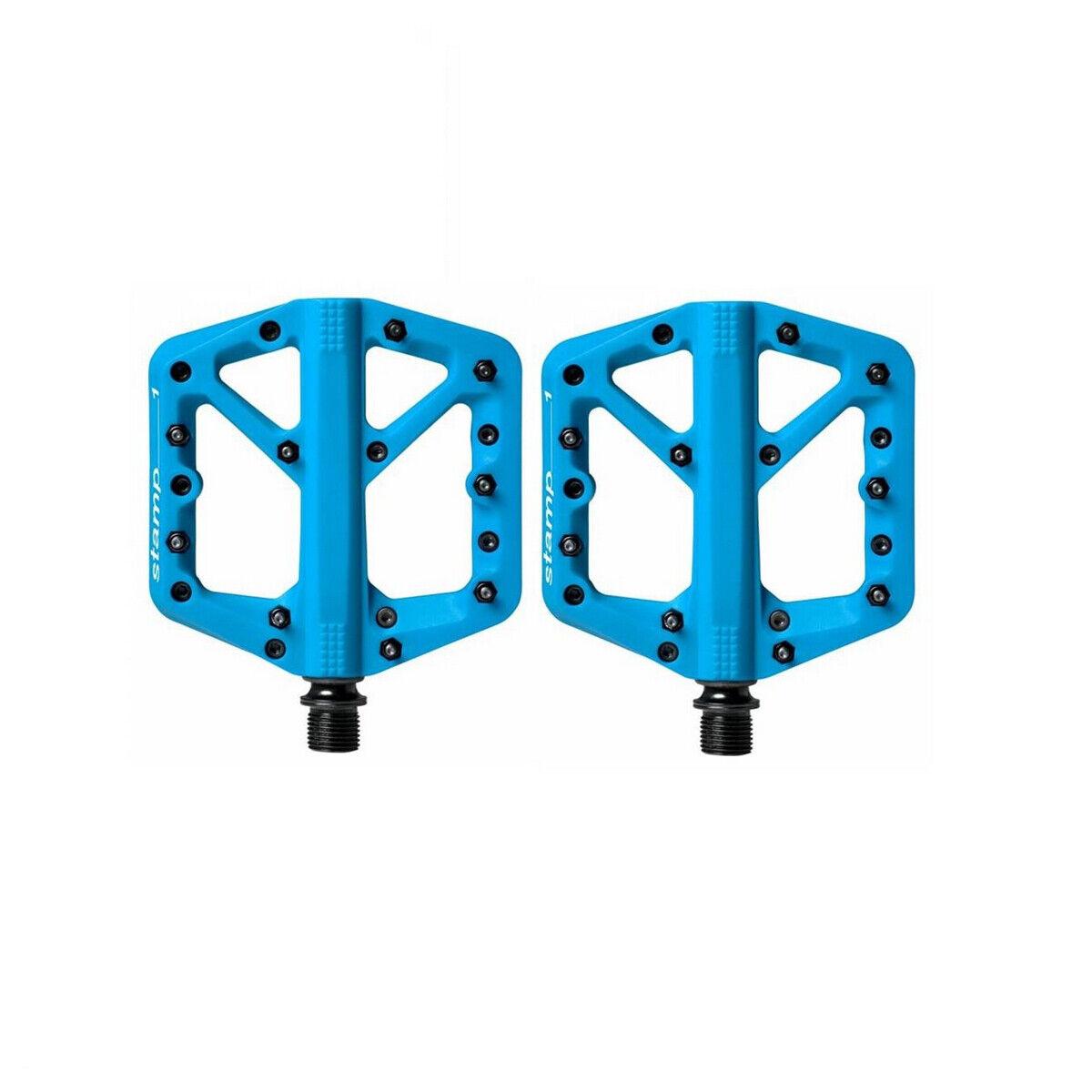 Coppia pedali stamp 1 smtutti blu CB16272 Crank Brossohers flat bici pedali