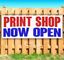 Print Shop Now Open Advertising Vinyl Banner Flag Sign Many Sizes