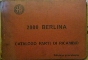 Alfa-Romeo-2000-Berlina-Ersatzteilkatalog-Catalogo-Parti-Ricambi