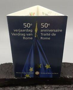 """BELGIQUE 2007 : coincard  2 euro """"Traité de Rome""""."""