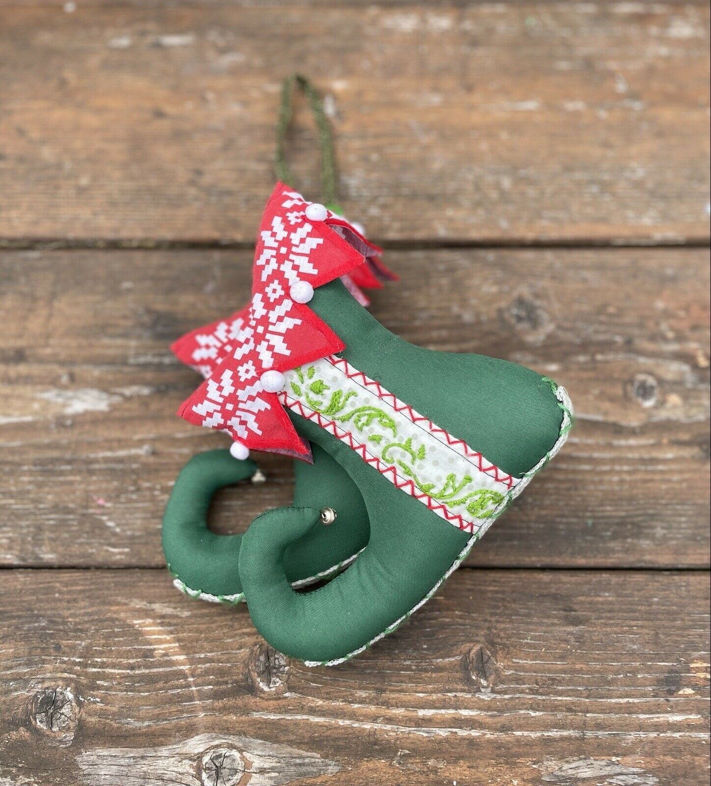 ! nuevo! LG hecho a mano Elfo De Tela Botas, colgar o soporte, Navidad, Decoración De Invierno,
