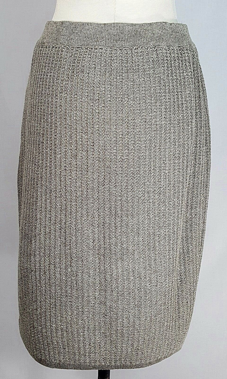 RODIER Linen Silk Knit Skirt Size 42 US10 Women's Beige colord France Made