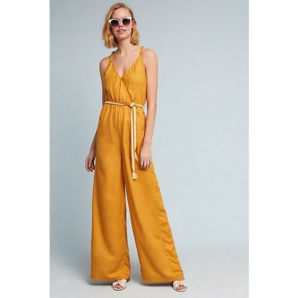 148 Anthropologie Paula Wide-Leg Jumpsuit   size S new new