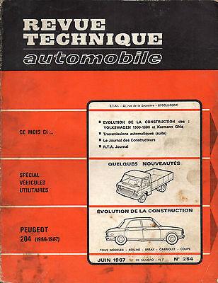 Beschouwend Rta Revue Technique Automobile N° 254 Peugeot 204 1967
