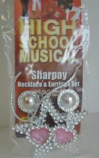 High School MUSICAL Sharpay Necklace EARRINGS Set Pink HSM Costume Collect STAR