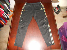 "Men's Adidas Tiro Tapered Soccer Real Madrid Pants Size L Black 30"" Inseam"