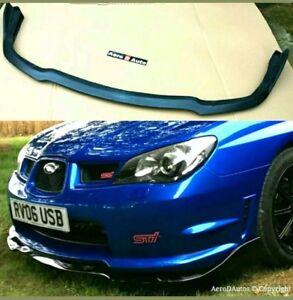 Subaru Impreza Hawkeye Cs Type Front Splitter Lip 06-07 Sti En Simili Cuir Noir En Plastique-afficher Le Titre D'origine Renforcement De La Taille Et Des Nerfs