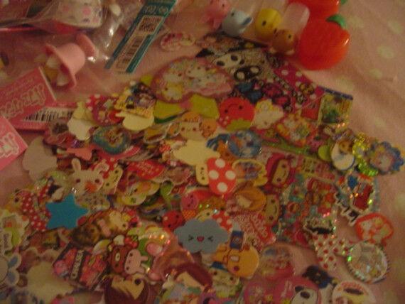 sanrio San-x q-lia KAMIO CRUX KAwaii sticker flake MEMO stationary grabbie lot