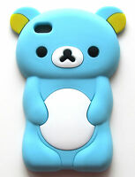 Ipod Touch 4 4th Gen Baby Blue Teddy Bear Silicone Rubber Soft Skin Cover Case
