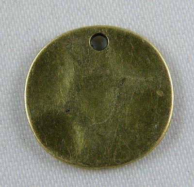 60pcs Bronze Color Coin Charms Pendants 15x1mm 11681