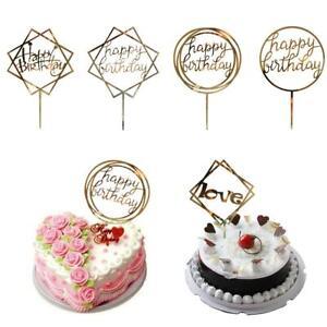 Phenomenal New Love Happy Birthday Cake Topper Card Acrylic Party Decor Funny Birthday Cards Online Ioscodamsfinfo