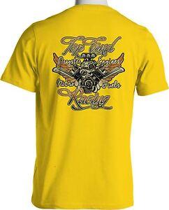 Top Fuel Drag Racing T Shirt Nitromethane Hot Rod Mens