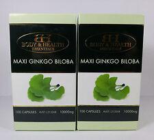 Maxi Ginkgo Biloba 10000mg 100 Capsules (2 Pack) by BH - Brain & Memory Health