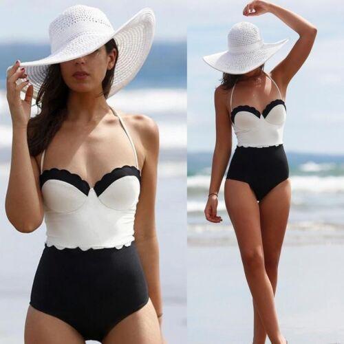 Swimwear Mare Monokini Da Up Push One Costume Vintage Bagno Abigliamento Piece SxqfdvwHH