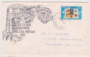 K84-28-1981-AU-22c-Mt-Morgan-envelope-used-tone-spots-AC