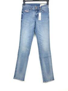 DIESEL Sandy Damen Jeans Hose Super Stretch Slim reg. Waist W26 L32 Blau Neu