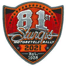 2021 Sturgis Rally 81st Anniversary Logo Biker Rally Patch Iron On Sew On Sp21