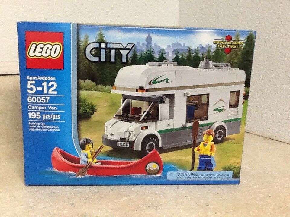 Lego Stadt Camper Van 60057 Canoe With Paddles 2 Minifigs