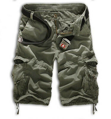 Mens Summer Military Army Combat Trousers Tactical Work Pocket Camo Pants Cargo