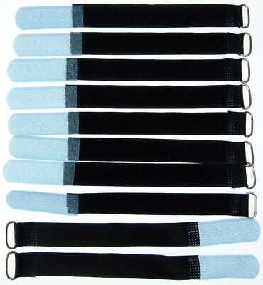 Punctual 10x Kabelklett Klettband 160 X 16 Mm Hell Blau Öse Klett Kabelbinder Klettbänder Matching In Colour Fishing