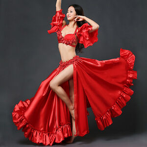 Image is loading 2018-Professional-Belly-Dancing-Costumes-Set-Performance -Diamond- 55e5e8d5f6d9