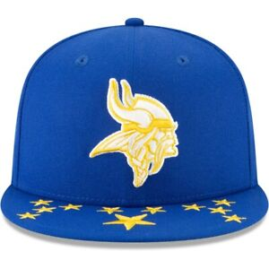 New Era Minnesota Vikings 59Fifty Fitted Hat Official Draft On Stage Spotlight