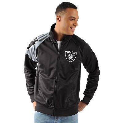 Black By G-iii Wide Varieties Football-nfl Oakland Raiders Interception Track Jacket