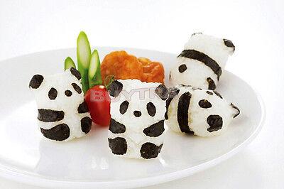 Cute Bento Rice Ball Onigiri Mold Mould With Nori Punch Sushi Panda Shape USJB