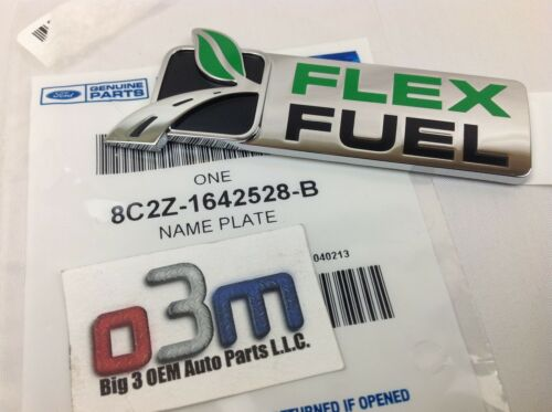 "Ford Expedtion Escape Super Duty F-150 /""FLEX FUEL/"" NAMEPLATE new EMBLEM OEM"
