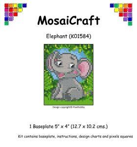 MosaiCraft-Pixel-Craft-Mosaic-Art-Kit-039-Elephant-039-Pixelhobby