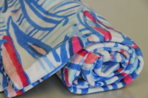 New Lilly Pulitzer Beach Towel Resort White Red Right Return Sail Boats Blue