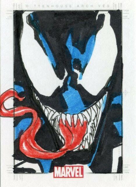 Marvel Heroes & Villains Sketch Card - DANIEL HORN DA ROSA - VENOM