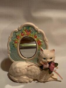 Ceramic-Vintage-Cat-Mirror-Decoration