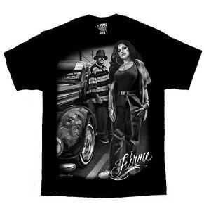 Firme-Lowrider-Cholo-Chola-Chicano-Art-David-Gonzales-DGA-T-Shirt