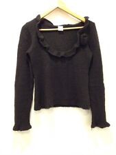 Camaieu Jumper Round Neck Black Top Size S/M 8/10 - <E4385
