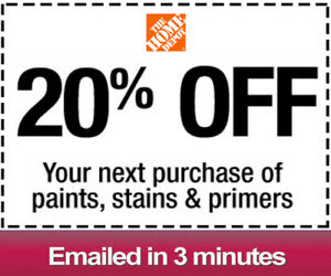One 1x Home Depot 20% OFFCoupon Paint&Stain-IN