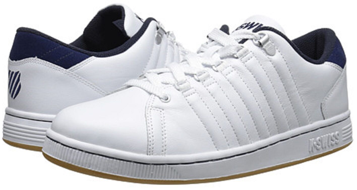 K-SWISS 03212-136 LOZANO III Mn's (M) White Navy Gum Leather Athletic shoes