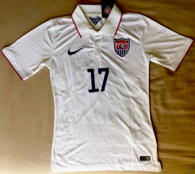 65218e46b47 NWT Authentic Nike Dry-Fit Soccer Jersey POLO White Men Sz M Altidore # 17