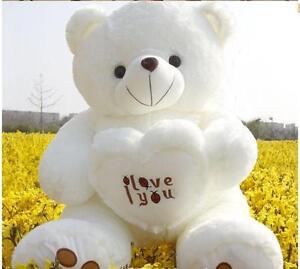 50cm-Giant-Huge-Biger-White-Love-Teddy-Bear-Plush-Kids-Soft-Toys-Doll-Xmas-Gifts