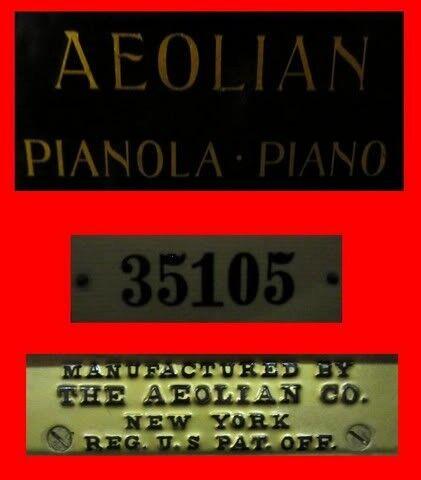 Piano Pianola Aeolian de 1920 con más de trescientos trescientos trescientos rollos de música  mejor oferta
