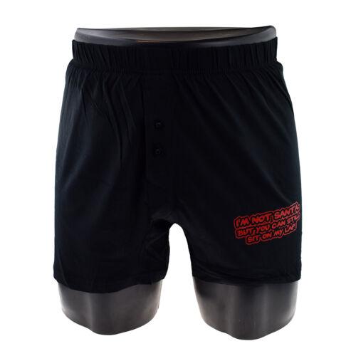 Noël Fun je ne suis pas Santa homme noir Noël Boxer Shorts Cadeau 4 Tailles xnbs 059