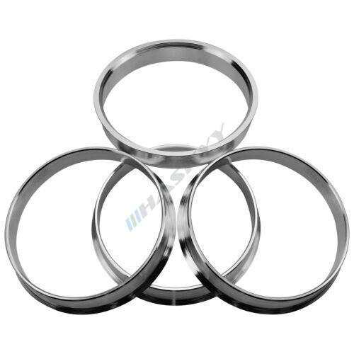 4x aluminio anillas de centrado 74,1-72,6 de aluminio para muchos modelos de BMW