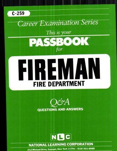 National Learning Corporation-`Fireman, Fire Department` BOOK NEW