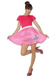 Déguisement Femme Rock Rose XL 44 Costume Adulte Disco Années 1960